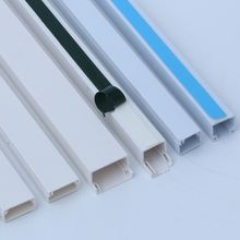 10*10mm 15*10mm Mini Canal Adhesive pvc trunking Plastic cable duct with green blue sticker