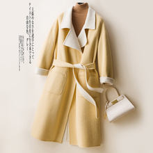 classic wool coats women overcoat cashmere wool full length coat with belt ladies cashmere jacket