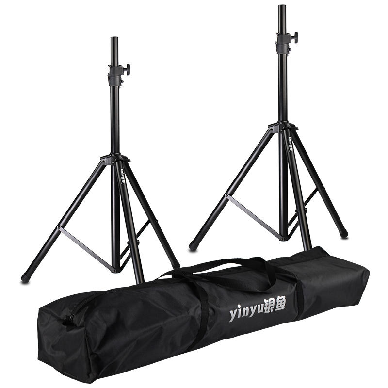 OEM heavy duty speaker stand kit black tripod floor adjustable speaker stand professional with carrying bag