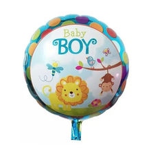 Boy Or Girl Globos Al Por Mayor 18 Inch Round Aluminum Foil Party Balloon For Baby Shower Party Decoration