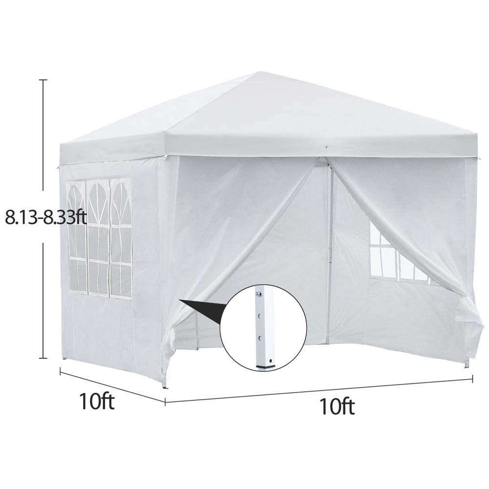 10x10 Pop Up Canopy Tent Folding Wedding Party Commercial Event Pavilion Waterproof
