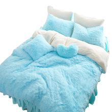 2019  soft and warm plush and sherpa winter bedding set
