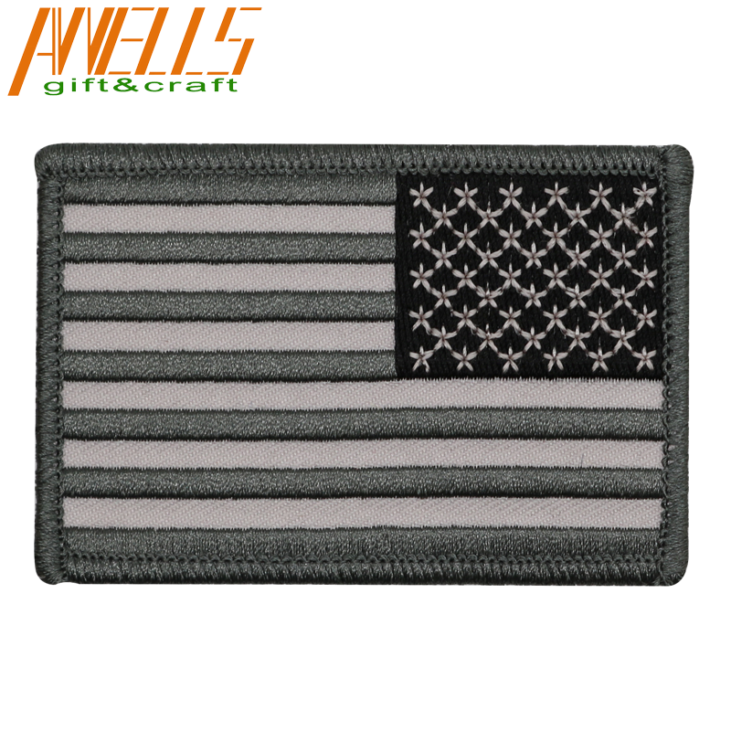 Custom embroidery american flag army patches, embroidered Tactical Patch Military Armband Army Badge