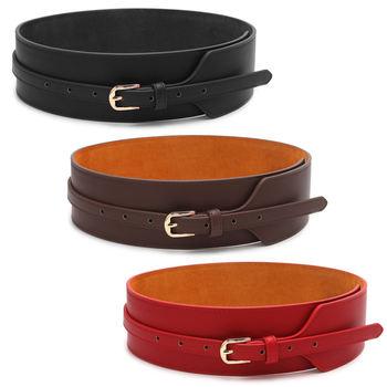 2017 Hot Fashion Women Belts Leather Metal Pin Buckle Waist Belt Waistban Jy