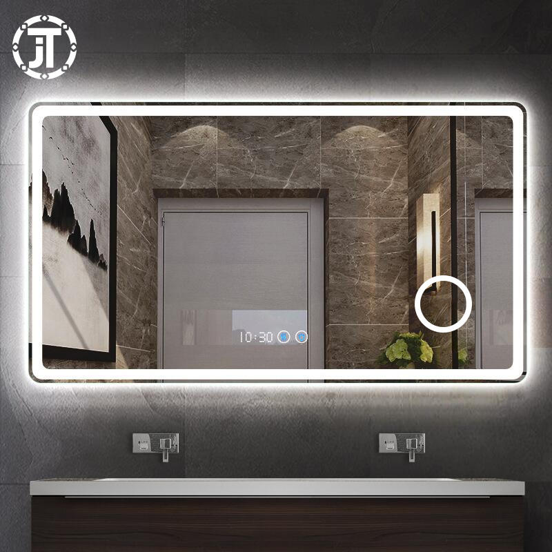 Hot Selling Beveled edge customized bath funiture luxuries led lighted mirror android, bathroom mirror, tv mirror