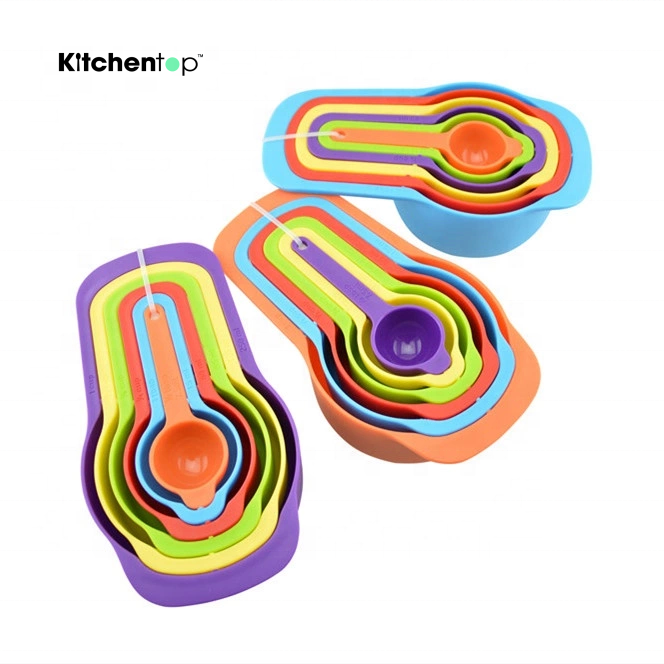 Amazon hot sell colorful measuring spoons