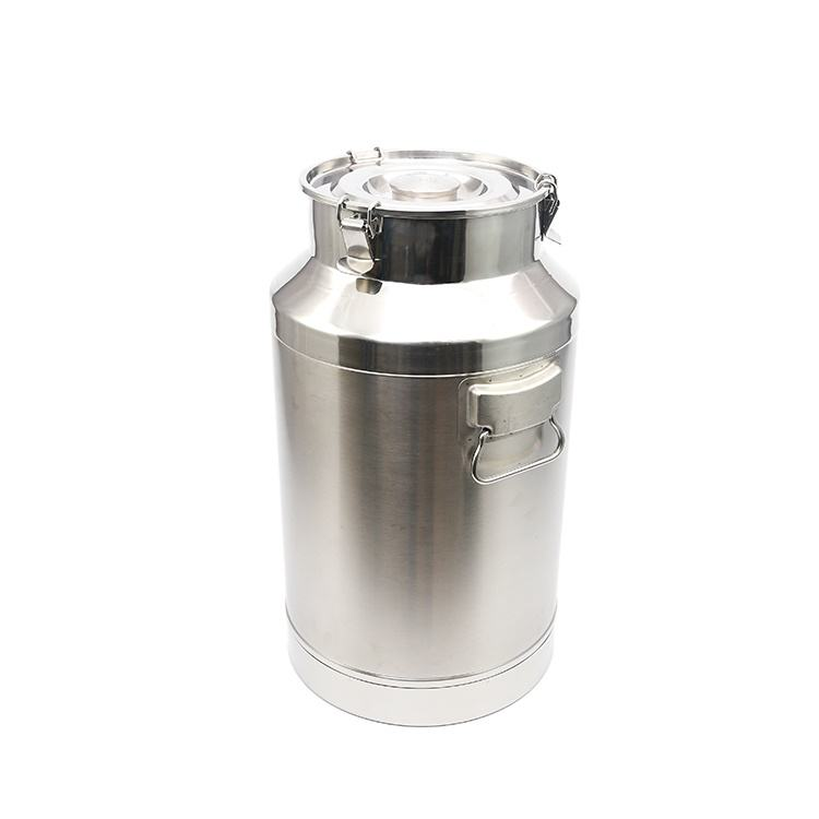 SS201 or SS304 metal round shape milk tin can stainless steel milk bucket Milk Can For Transportation