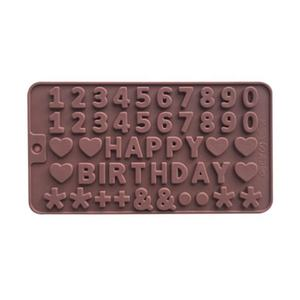 Letters  Happy Birthday/Numbers /Symbols Mold Chocolate cake tools decorating silicone mold