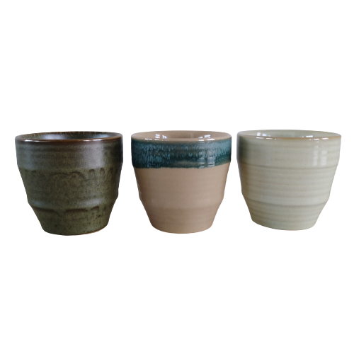Dehua cup ceramic 150ml embossed line cup coffee ceramic without handle japan style ceramic mug cup with reactive glaze