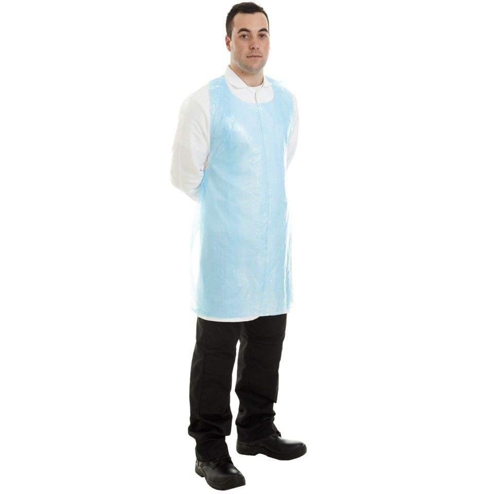 UV Protection [ Apron ] Design Apron FDA Approved Disposable Anti-bacterial New Material Blue CPE Apron