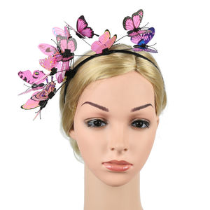 Creative new products European and American jewelry three-dimensional butterfly headband party hair accessories