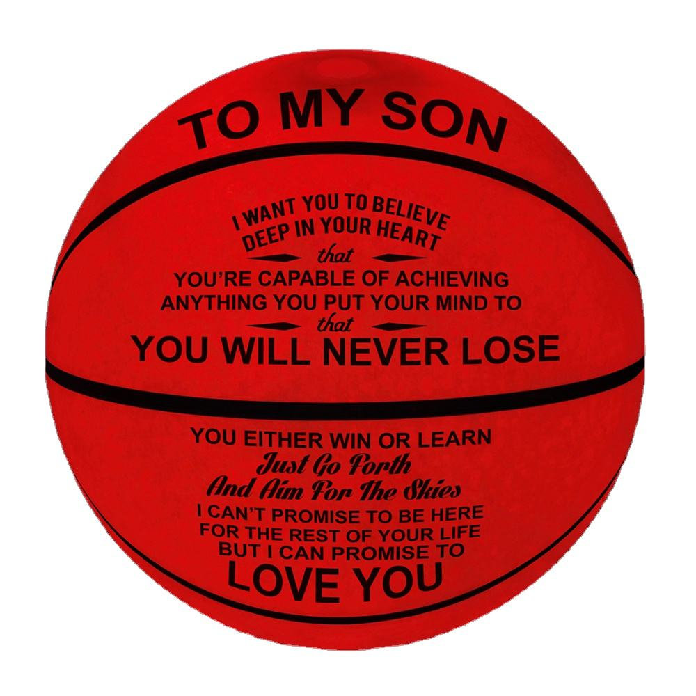 Custom basketball rubber basketball glow in the dark gift for birthday christmas LED basketball