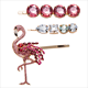 Acrylic crystal hairpin female adult card wholesale flamingo word clip three-piece hair accessories wholesale
