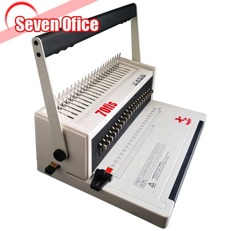 21 holes Comb binding machine A4 Manual plastic comb binder free logo print