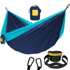 Outdoor Leisure Double 2 Person Cotton Hammocks 450lbs Ultralight Camping Hammock