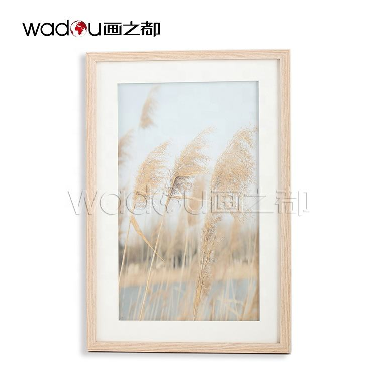 2020 Home Decor Trends Wholesale Scenery Glass Plants River Framed Art Wall Frames Home Decoration Art