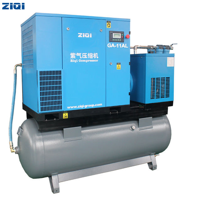 15hp screw compressor with dryer 500L tank
