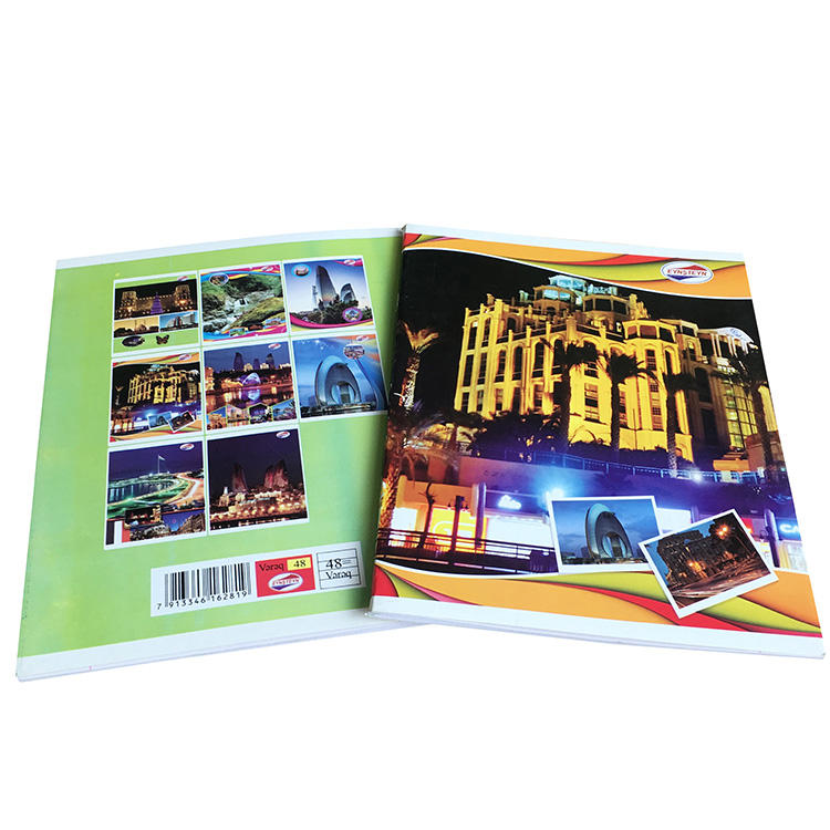 OEM customized logo 80 pages student notebook exercise book