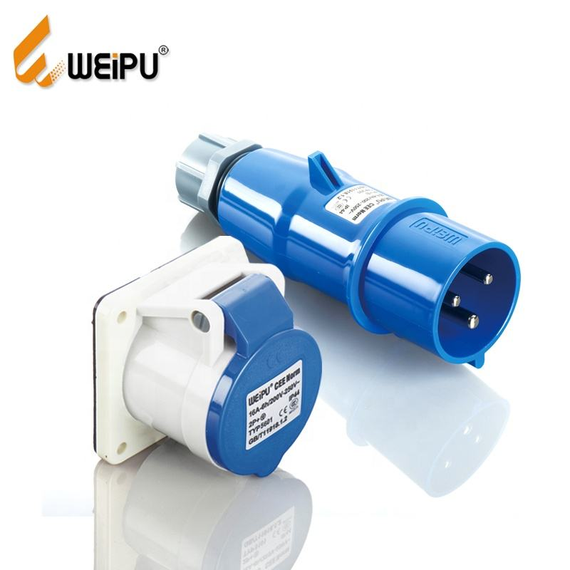 Weipu TYP231+TYP5601 IP44 waterproof 16A connector 220V Rated Voltage 3 phase male female plug socket