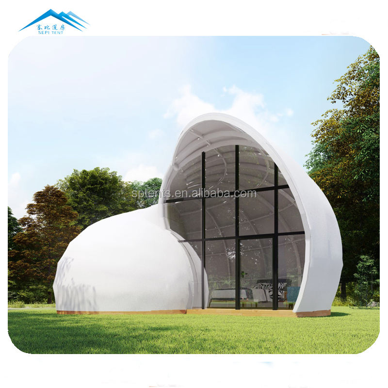 best sell glamping snail shape 2-3 people hotel villa resort hotel tent