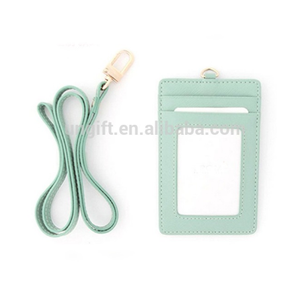 High quality leather card holder work leather card holder customized logo