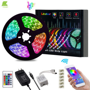 Tira de luces led de 5m de 12V Flexible SMD 5050 RGB con controlador Bluetooth