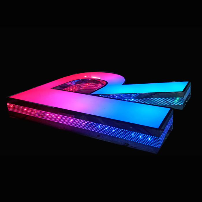Letters 3D Led Acryl Kanaal Brief Tekenen rgb verwisselbare brief Led Teken