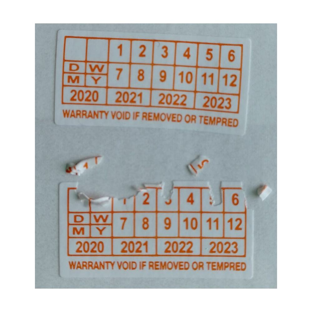 Destructible One-Time Use Tamper Evident Security Label Asset Eggshell Fragile Stickers
