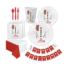 Wholesale Recycle Printed Theme Tableware Christmas Decorations Party Supplies Set
