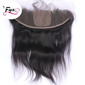 FYX Hot Selling silk base Frontal virgin cuticle aligned silk base Frontal