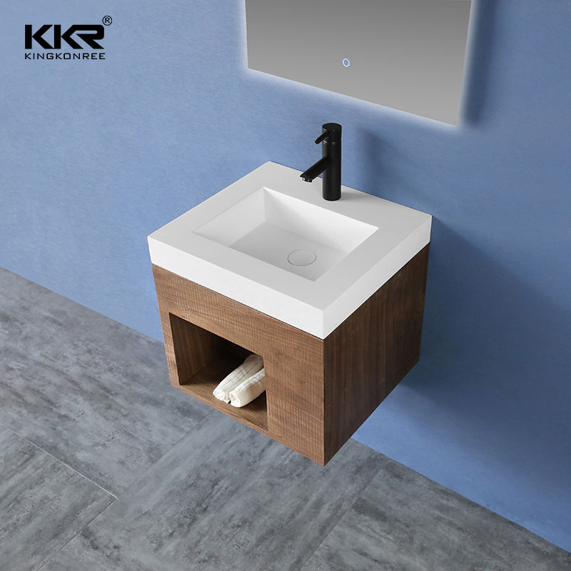 30 Inch Single Solid Surface Sink Modern Luxury Wall Mount Cabinet Basin Bathroom Vanity