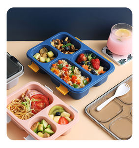 Multifunctional portable china cheap price kitchen use plastic lunch box kids 850ml 3 compartment food container