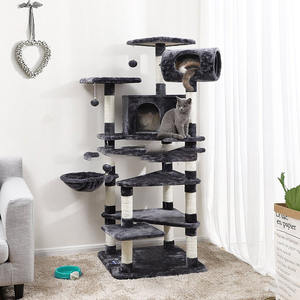 CHENG YI Cat Frame Scratching Post Board With Nest Cat Tree Tower Condo Furniture