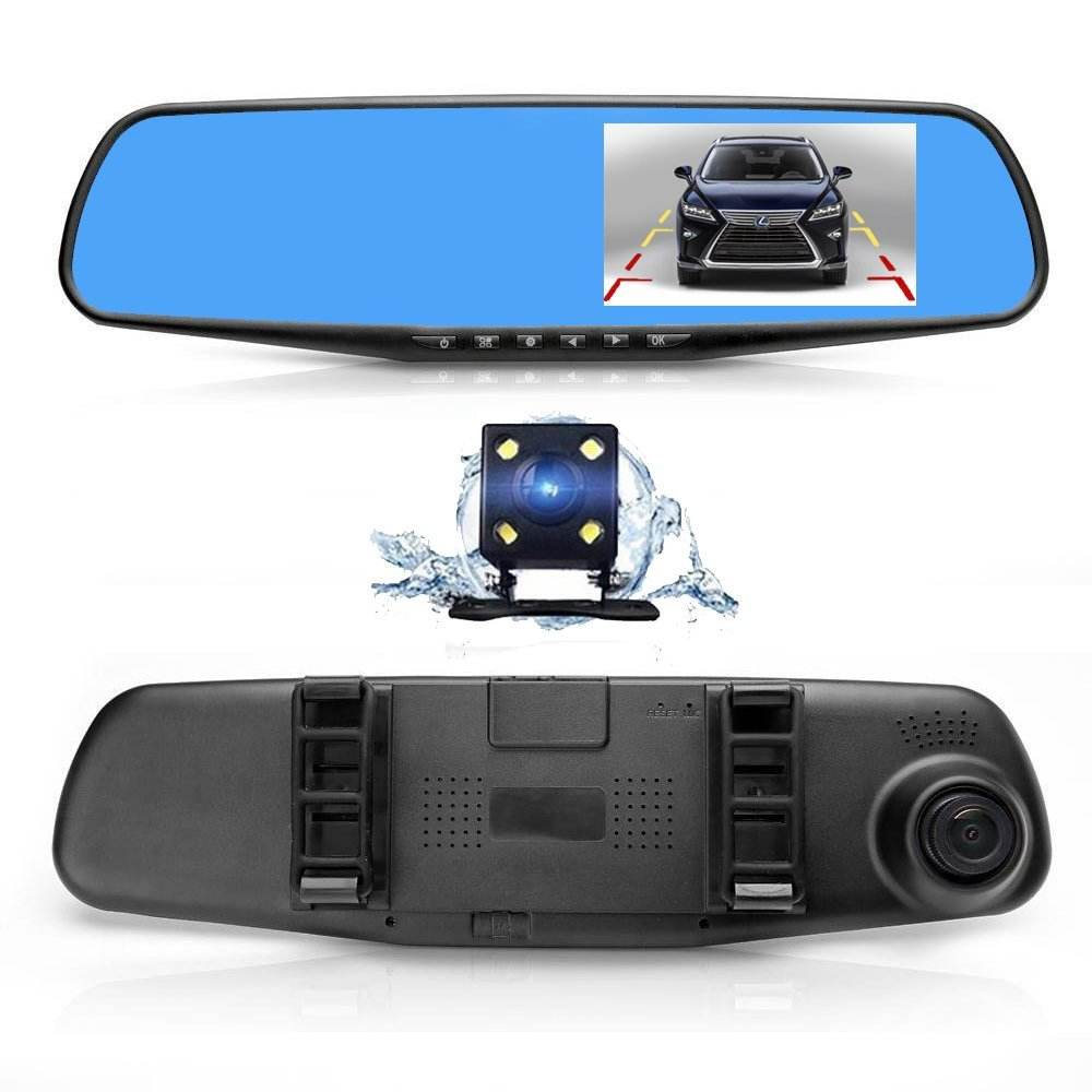 Car Dvr Dash Cam Dual Lens Rear View Mirror Auto Dashcam Recorder In Car Video Full Hd 1080P Dash Vehicle Camera