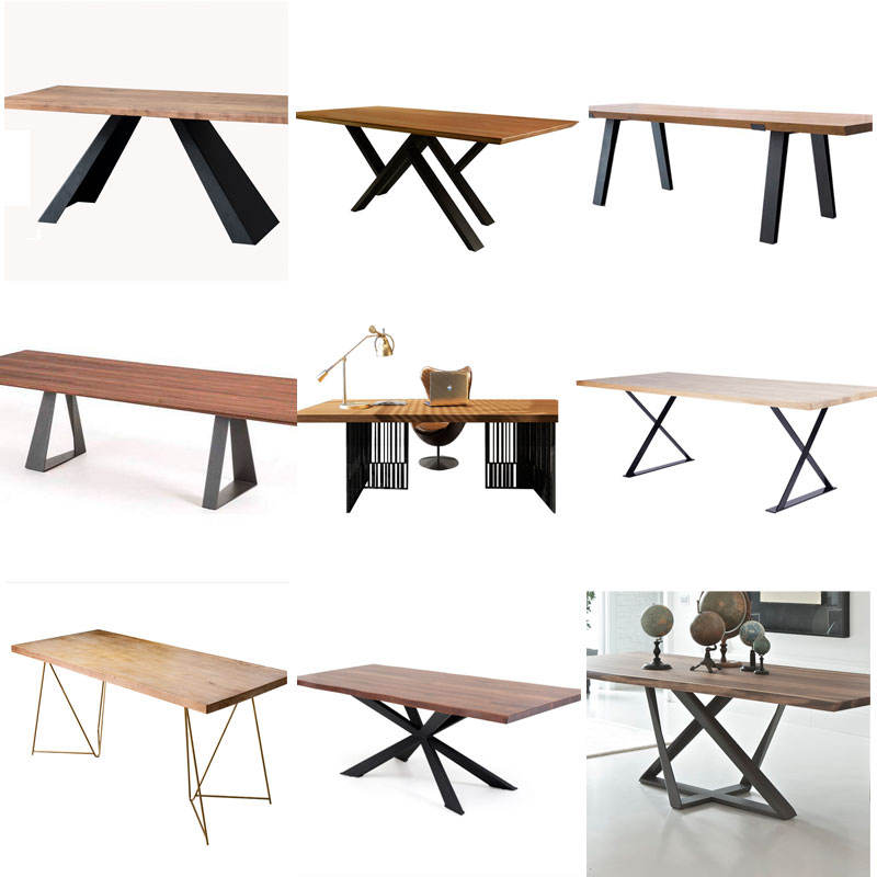 industrial metal furniture steel dining table legs restaurant table base for desk
