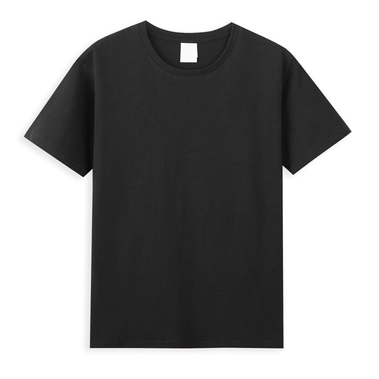 2021 Spring Custom Plain T-Shirts Black Poly Cotton Oversized