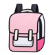 Fashion Girls Bag Nylon Material School Bag 3D 2D Cartoon Backpack