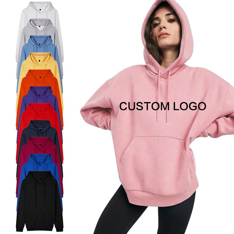 Hexin Jucai Heavyweight Cotton Sweatshirts Women Hoodies Pullover Sweatshirts For Women Custom Printed Logo Women's hoodies
