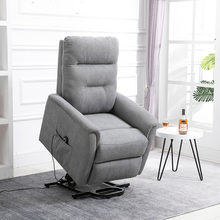 Best Price Electric Living Room OKIN Motor Linen Fabric Lift Recliner Sofa Chairs for Elderly