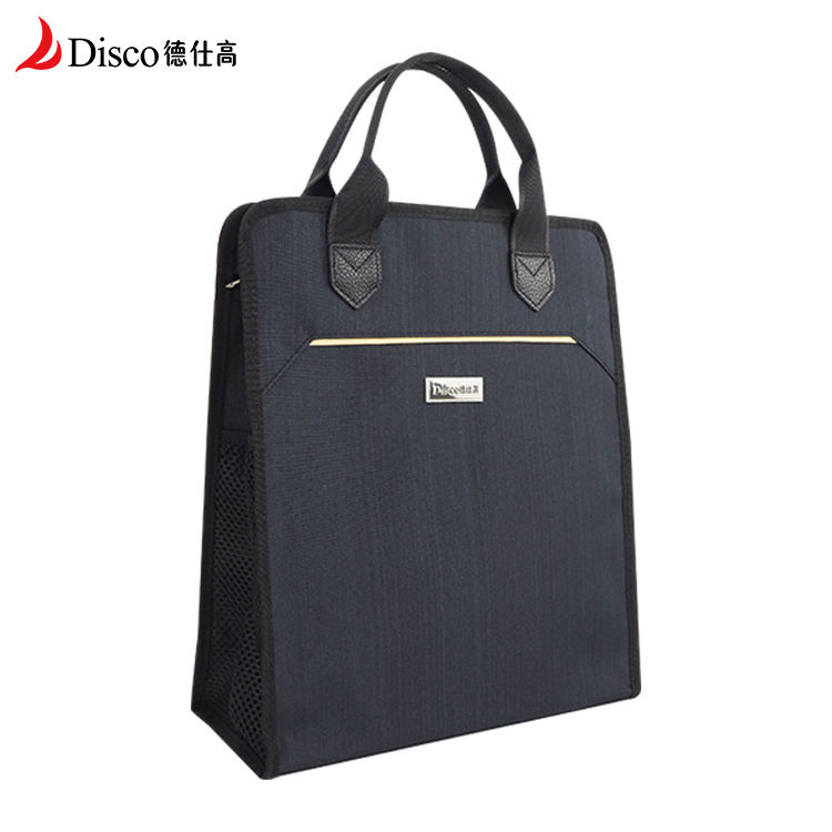 Custom Wholesale Fashion Design 14 Inch Deep Blue Business Man Large Oxford Tote Bag