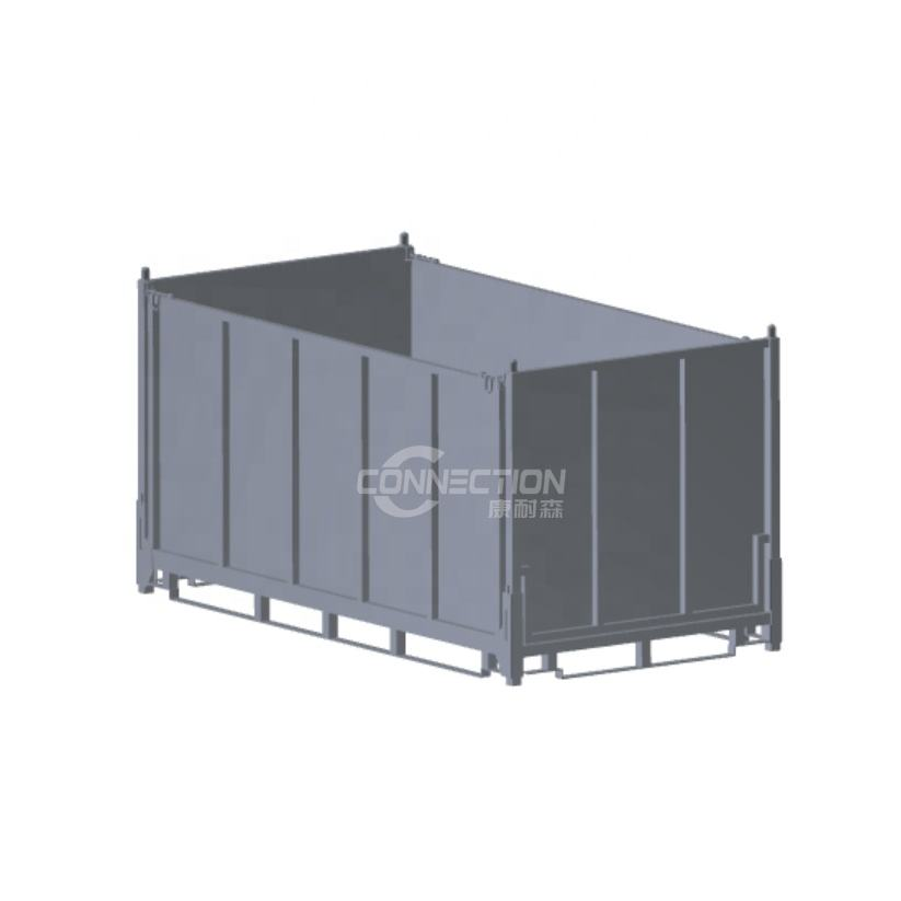 Folding Storage Stillage cage Collapsible Steel Box pallet Powder coating Box pallet for warehouse