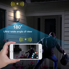 Wireless IP65 Outdoor 1080p Smart Home CCTV IP Camera with Motion Sensor Light and Siren Alarm