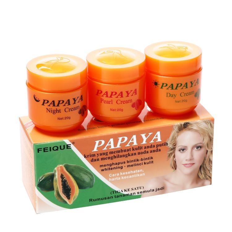 FEIQUE black pearl whitening pimple removal dark spot fade rapid white papaya skin whitening cream