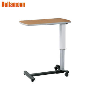 PT6001A Height Adjustable Hospital Overbed Table  Hospital Bedside Table Over Bed Table For Dinning