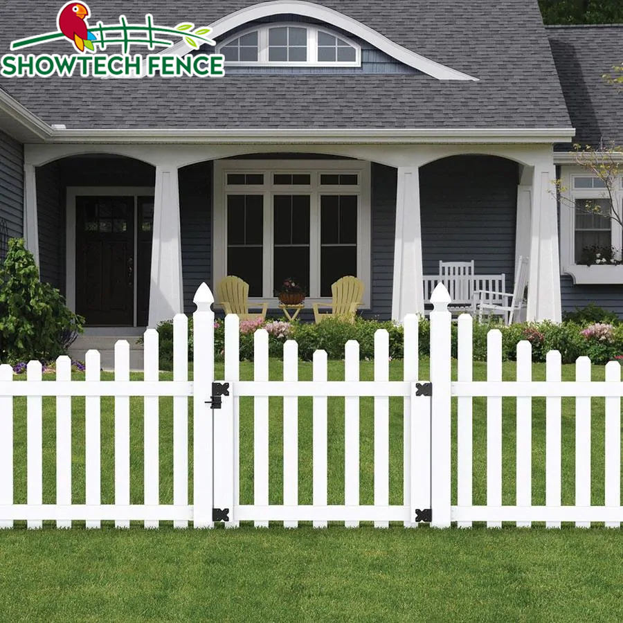 PVC white picket garden fence post,cedar vinyl fence picket panels,pvc fence gate