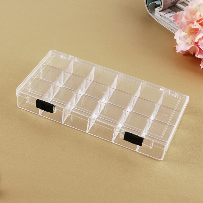 CheapBox Plastic Storage/ Detachable 18 Compartments Clear Plastic Storage Box
