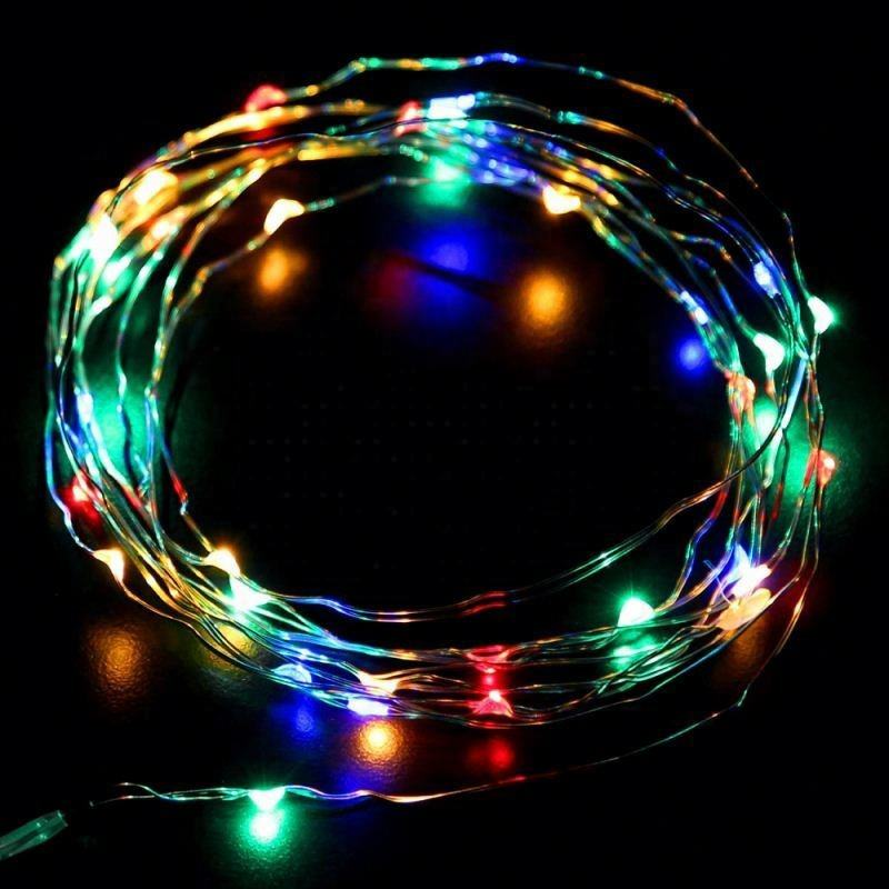 wholesale christmas twinkling stars led snowfall curtain lights copper wire usb led copper wire string light