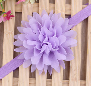 Wholesale Korean Children Clothing Solid Color Artificial Flowers Baby Girl Headband From China