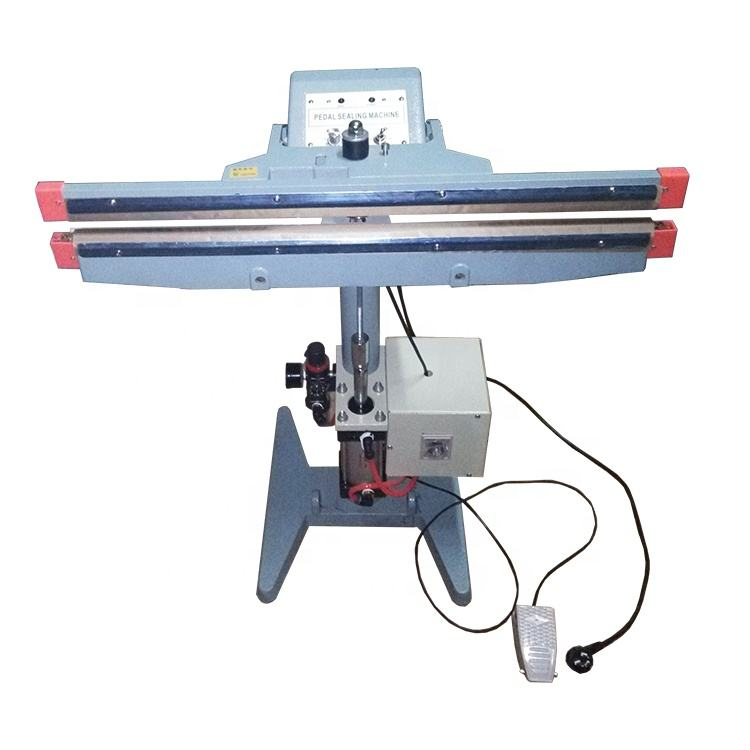 Hot selling pneumatic double-side heating pedal impulse sealer heating sealing machine with good quality
