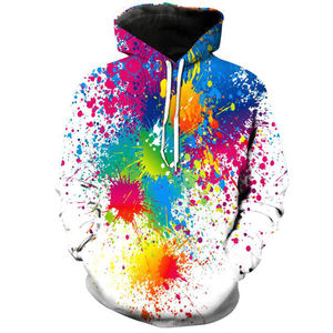 Women Long Sleeve Pullover Sweatshirt High Quality Fashion Men Splash Color Plain Tie Dye Custom Gym Hoody Galaxy Hoodie